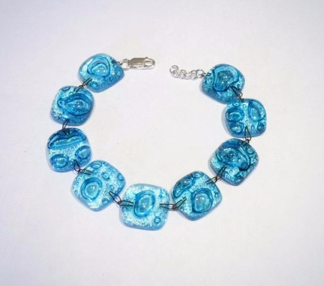 Glass Bubble Bracelet 3 (Turquoise)