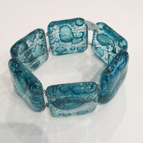 Turquoise Medium Bubble Square Bracelet