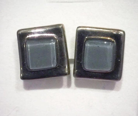 Cufflinks 6 Grey Square