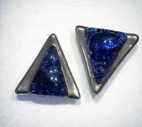 Cufflinks 5 Blue Triangle