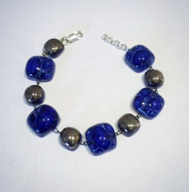Glass Bracelet 1 (Dark Blue)