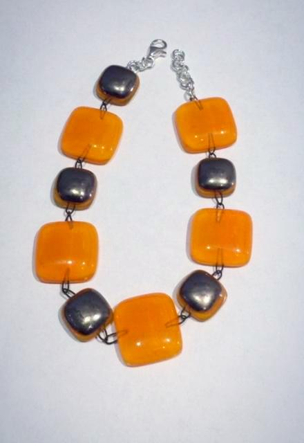 Glass Bracelet 1 (Orange)
