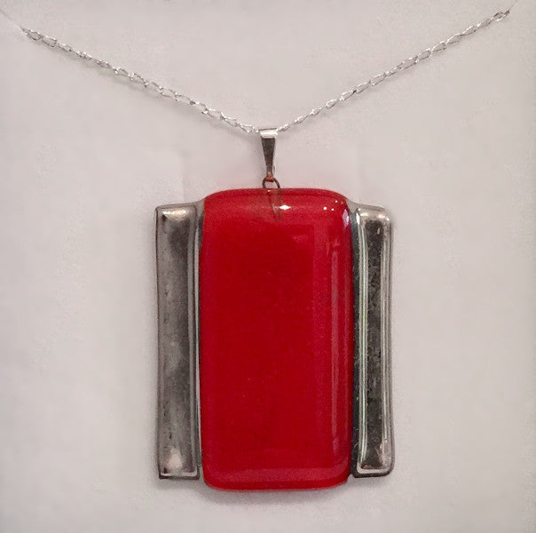Red Rectangle Pendant