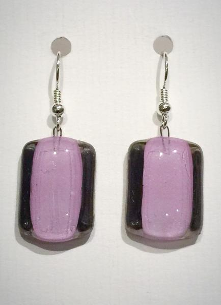 Rectangle Earrings 1 (Light Mauve)