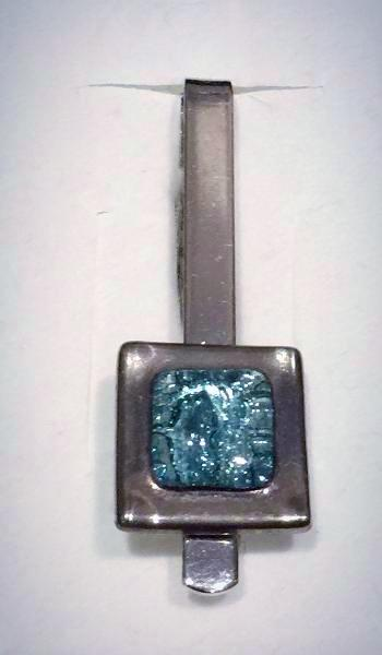 Tieclip 3 Turquoise Square