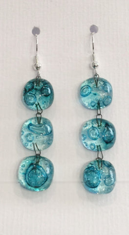 Bubble Treble Drop Earrings (Turquoise)
