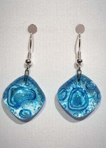 Bubble Round Earrings 2 (Turquoise)