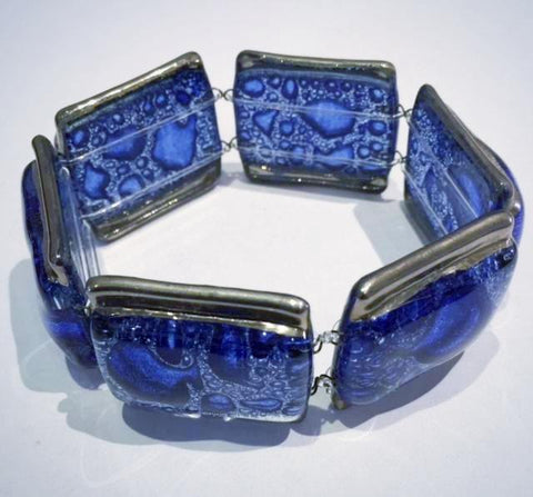 Bubble Square Bracelet 2 (Dark Blue)