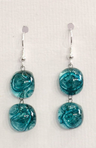 Bubble Double Drop Earrings 2 (Turquoise)