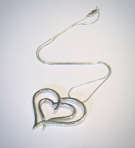 Large Double Heart Pendant 2
