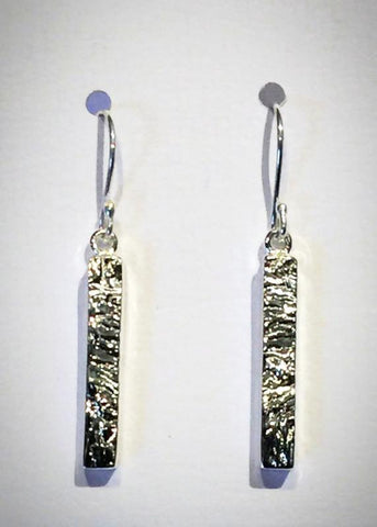 Hammered Rectangle Earrings