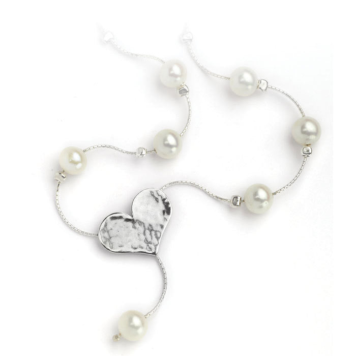 Heart Necklace with Pearls