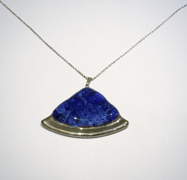 Blue Bubble Fan Pendant