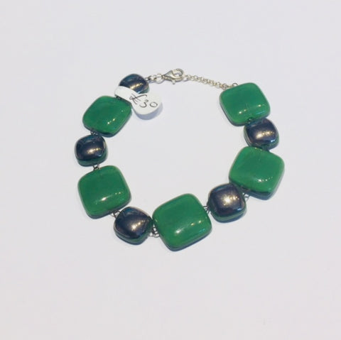 Green Platinum Composite Bracelet