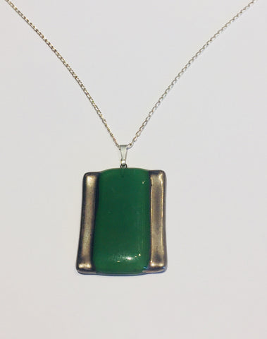 Green Rectangle Pendant 1 (A135)