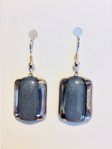 Rectangle Earrings 1 (Grey)