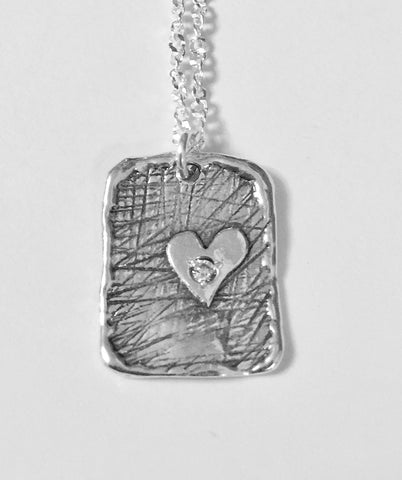 Silver Pendant with Heart