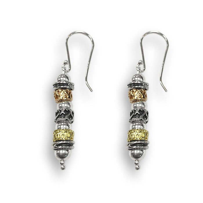 Silver & Rolled Gold Earrings