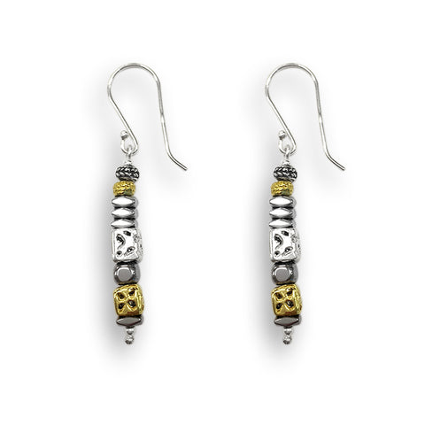 Silver & Rolled Gold Earrings 2