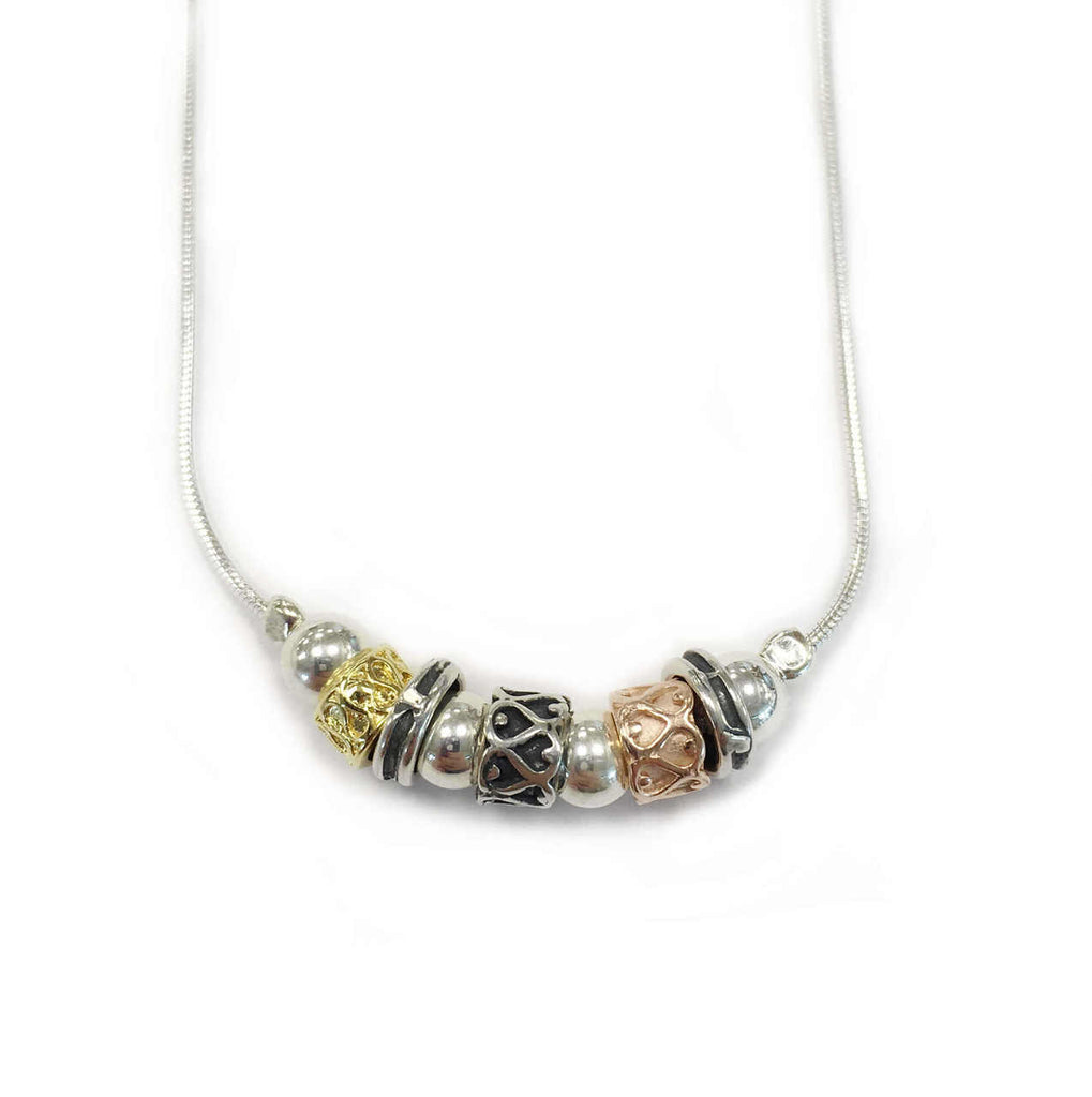Silver & Rolled Gold Necklace