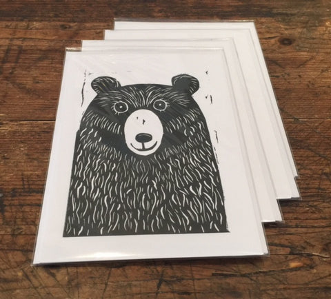 Bear Card (Black)