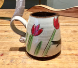 Blackbird with Tulips Small Milk Jug