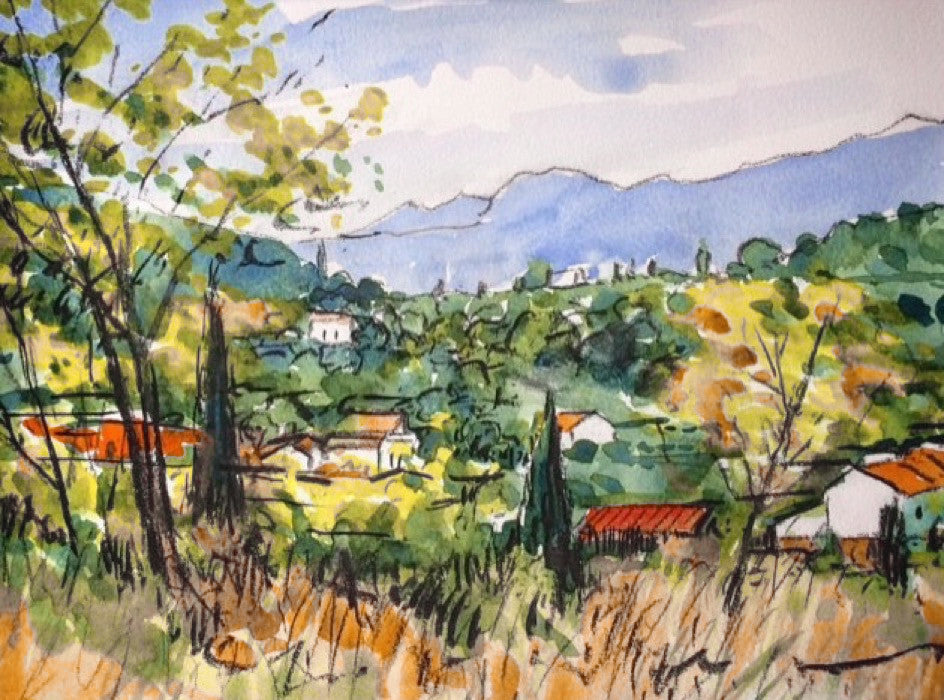 Landscape near Ceret
