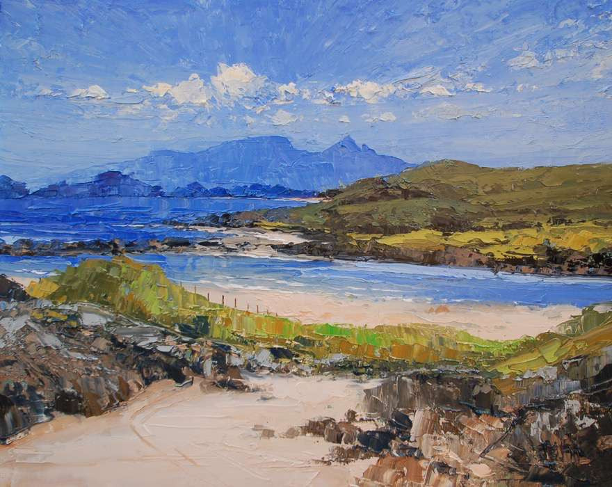 Sanna Bay, Looking Towards Rhum