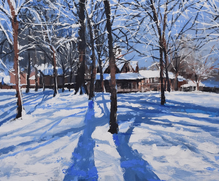 Winter Light, Bournville (Giclee Print)