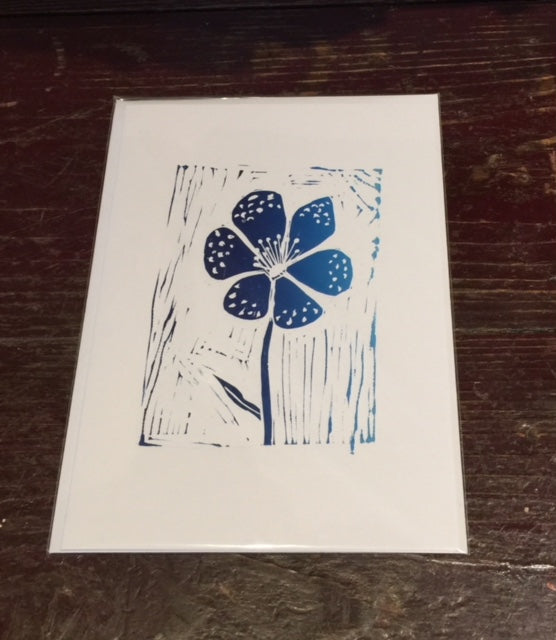 Flower Card (Blue)