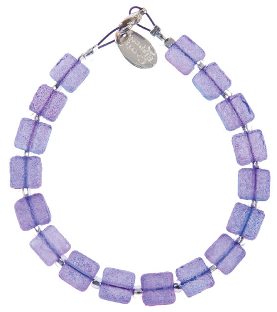 Sugared Square Bracelet (Lavender)