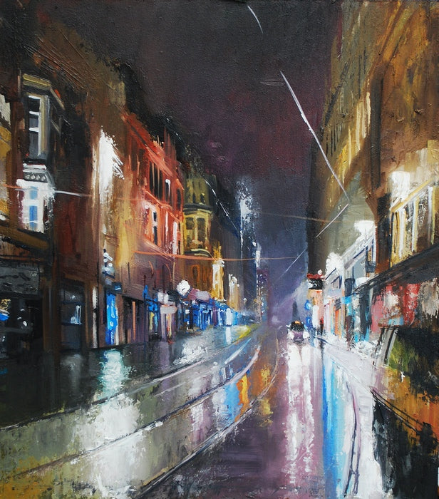 Corporation Street Night Rain