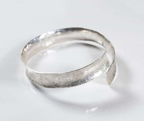 Brushed Silver Split Bangle