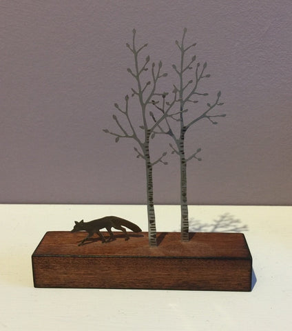 Miniature Fox & Silver Birch 1