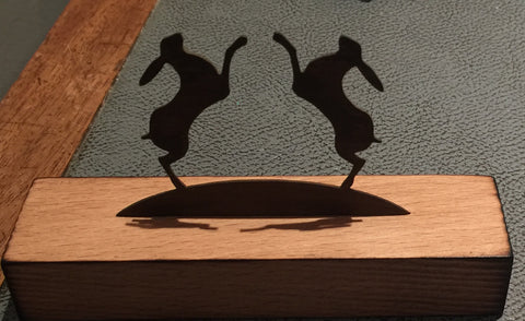 Two Hares (Miniature)