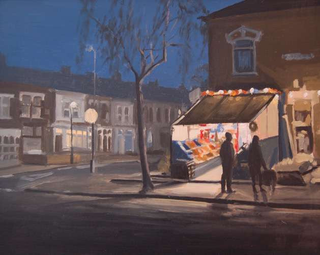 Derek and Pauline's Corner Shop (Framed Print)