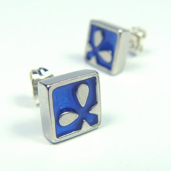 Blue Sea Flower Studs