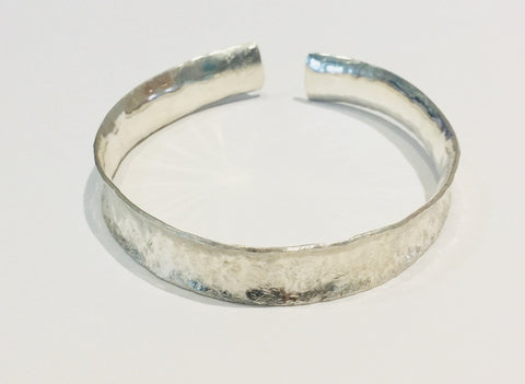 Brushed Silver Cuff Bangle 2 (large)