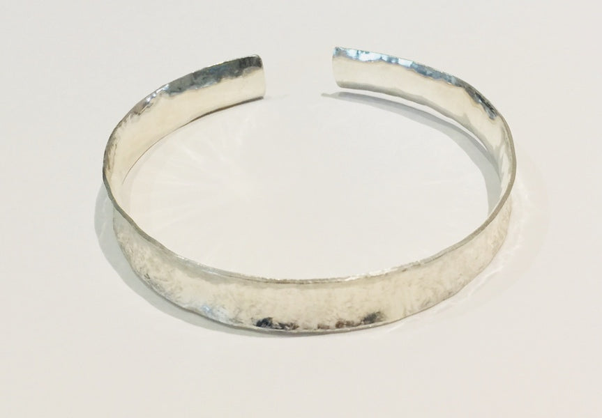 Brushed Silver Cuff Bangle 2 (medium)
