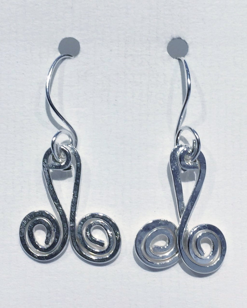 Double Swirl Earrings 2