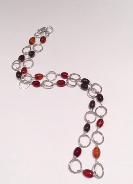 Garnet & Silver Necklace