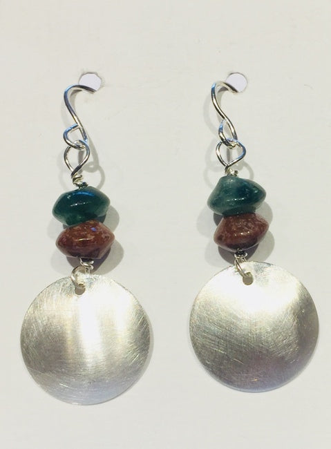 Mixed Agate Drop Earrings