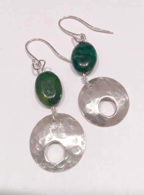 Jade & Silver Earrings