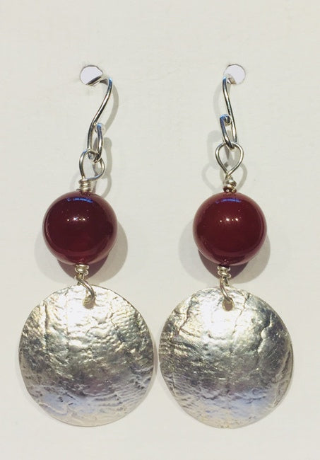 Red Carnelian Drop Earrings