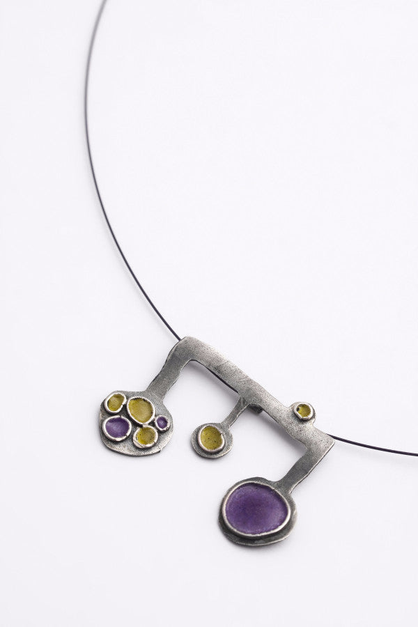 Enamel and Silver Pendant 3