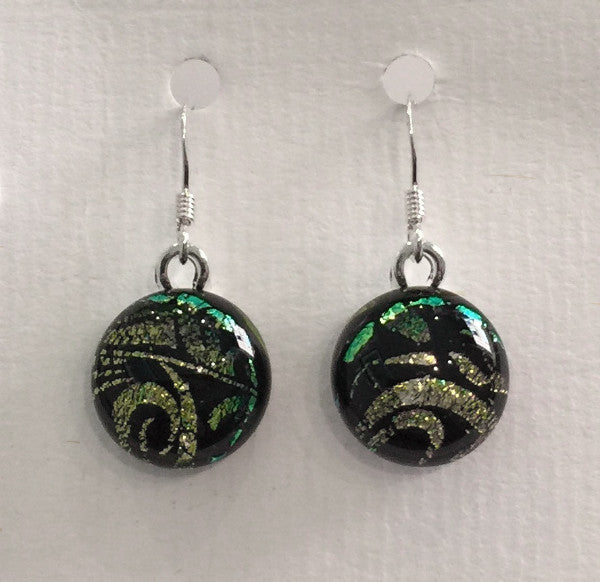 Dichroic Glass Earrings 7