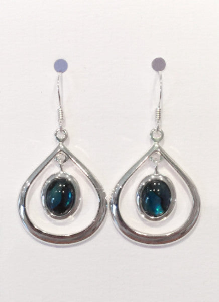 Tear Drop Earrings (Teal)