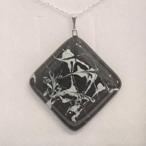 Painted Pendant (Black & White)