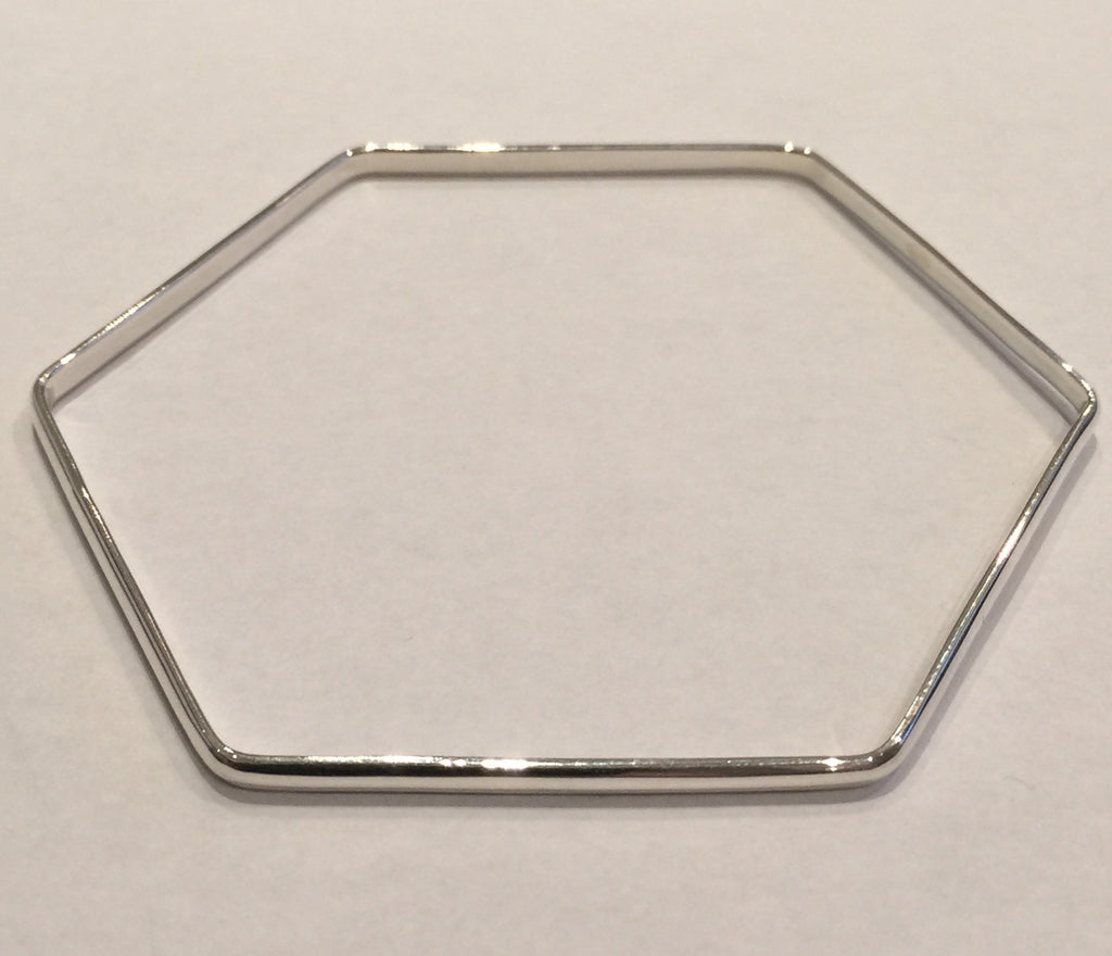 Six-Sided Silver Bangle
