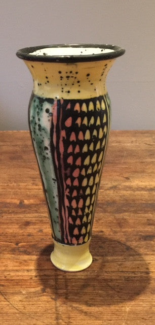 Multi-Coloured Tall Vase